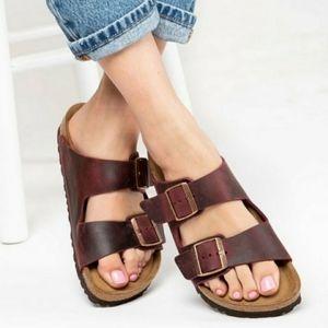 Birkenstock Arizona Zinfandel Leather Sandals